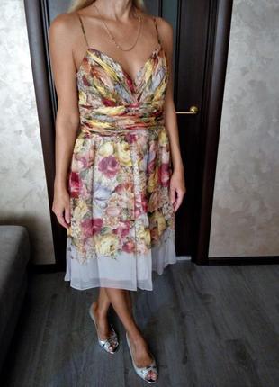 Шёлковое цветочное платье в бельевом стиле oc by oc американск...