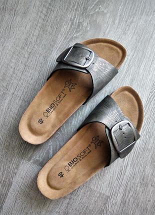 Комфортные ортопедические шлёпанцы-сандалии от bio soft easy walk