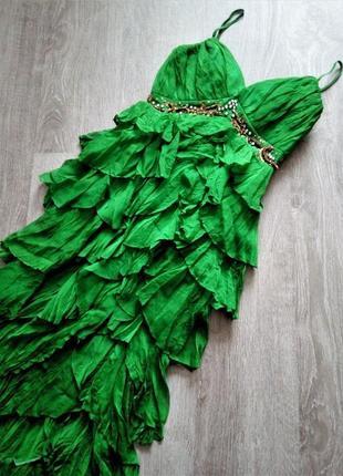 Эксклюзивное ,изумрудное платье оригинал дизайнера muza muzaff...