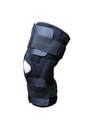 Наколенник с металлическим шарниром, ортез на колено неопреновый.