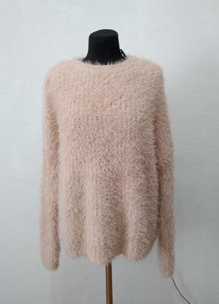 """Стильный свитер """" мокко """" большого размера"""