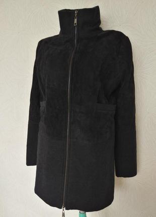 Пальто стеганое полупальто куртка замшевое кожаное с-м размер