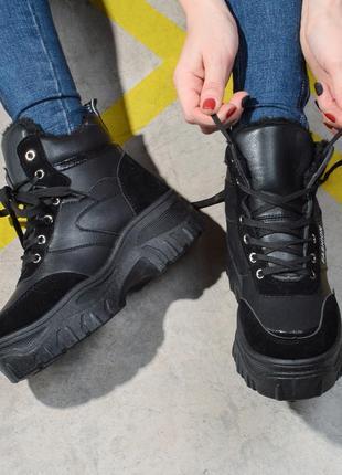 Зимние ботинки ботики женские