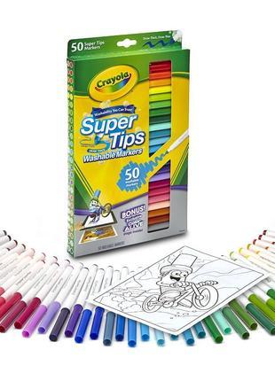 Crayola фломастеры Крайола 50 шт. смывающиеся