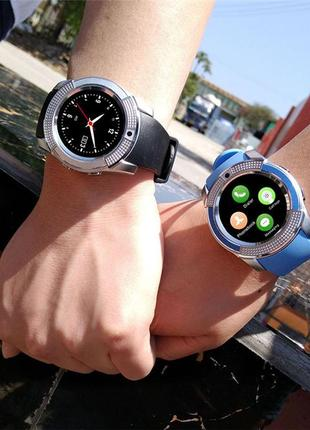 Смарт часы Smart Watch V8 (black, silver,blue, pink)