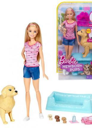 Кукла Барби и собака новорожденные щенки Barbie Newborn Pups Doll