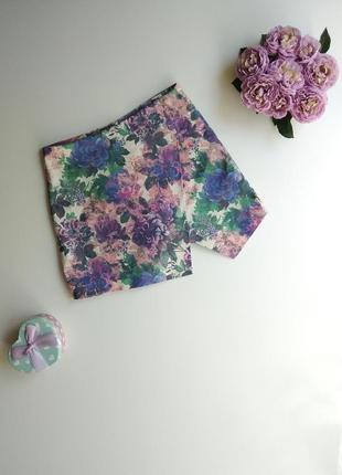 Асимметричная юбка-шорты miss selfridge в цветочный принт