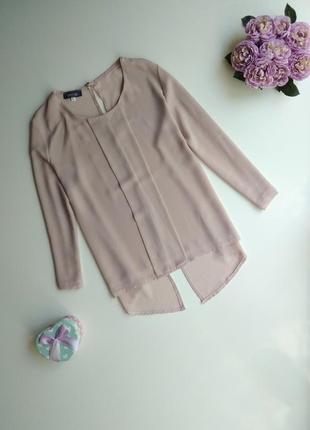 Блуза с интересной спинкой perla nera бледно лилового цвета