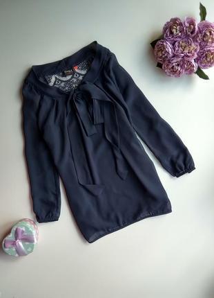 Шифоновая блуза с кружевной спинкой цвета неви от only