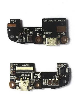 Шлейф для Asus ZenFone 2 (ZE550ML, ZE551ML), с разъемом зарядк...