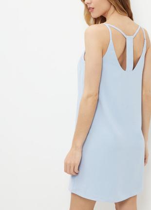 Нежное платье прямого кроя василькового цвета new look новогод...