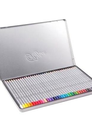 Цветные карандаши Marco Raffine 50 цветов в металлическом пенале
