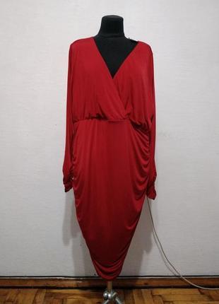 """Стильное платье """" красная королева """" большого размера"""