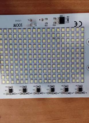 ЛЕД Светодиод на прожектор 100W LED матрица 220Вольт