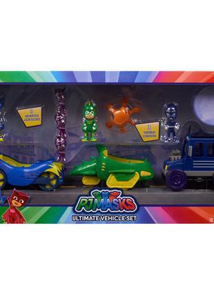 Игровой набор герои в масках Кэтбой и Гекона на ашинах PJ Masks