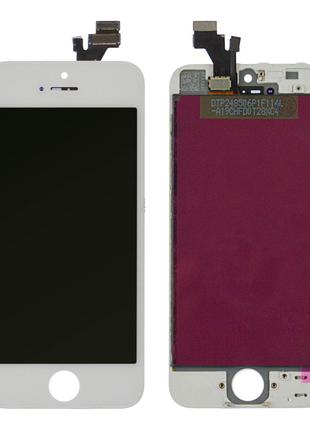 Дисплей iPhone 5 с тачскрином (White) Original OEM в рамке