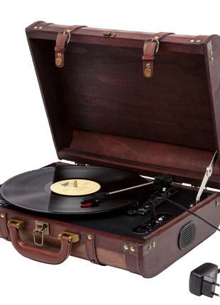 Проигрыватель виниловых дисков переносной с чемоданом Camry CR...
