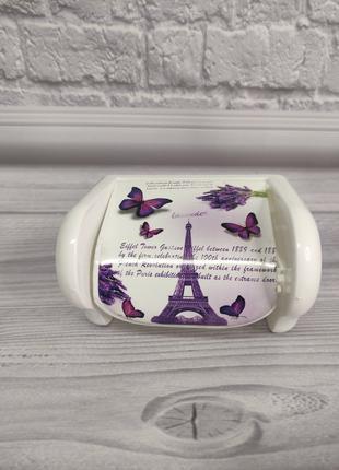 Пластиковый держатель для туалетной бумаги Эйфелева башня Elif