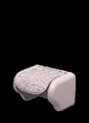 Пластиковый держатель для туалетной бумаги Ажур пудра Elif 386