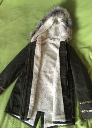 Зимняя куртка парка с капюшоном