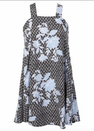 Стильное платье сарафан с принтом
