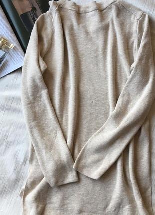 Кофта свитер  удлиненная с вырезами по бокам mango размер м