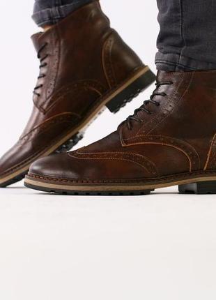 Lux обувь!😍зимние натуральные мужские ботинки оксворд  40-45р