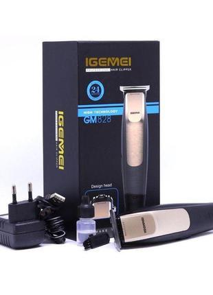 Профессиональная машинка для стрижки Триммер мужской Geemy GM-...