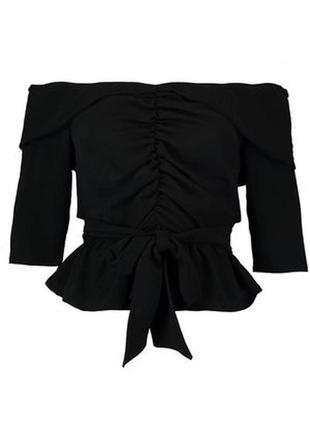 🍁осенний sale! 🍂 необычная черная блуза с открытыми плечами от...