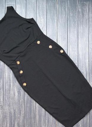 🎄зимняя ликвидация ❗  стильное черное платье-футляр с декором ...