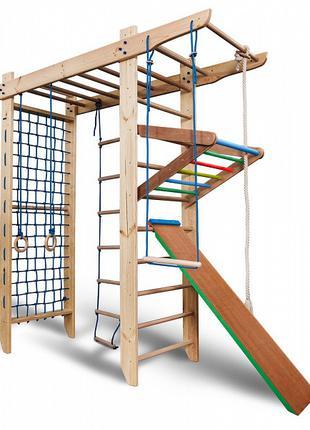 Большой деревянный спортивный комплекс для детей с рукоходом S...