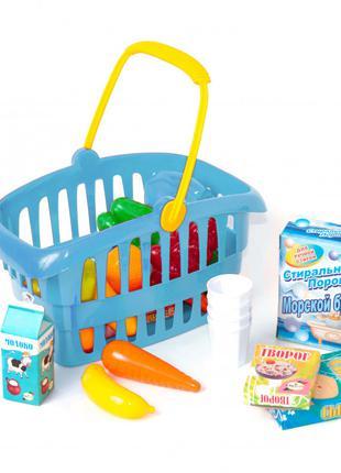 """Корзинка """"Супермаркет"""" 362B2 (Синий) Детский Игровой Набор Маг..."""