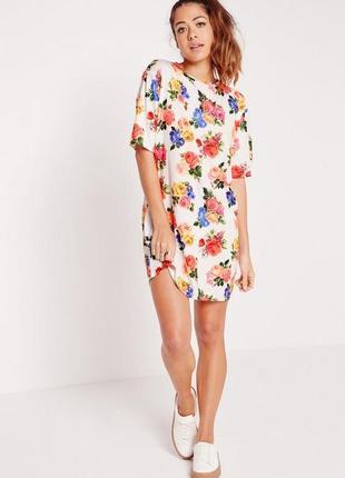 Скидка до 3️⃣1️⃣.0️⃣1️⃣! платье-футболка в цветы от missguided...