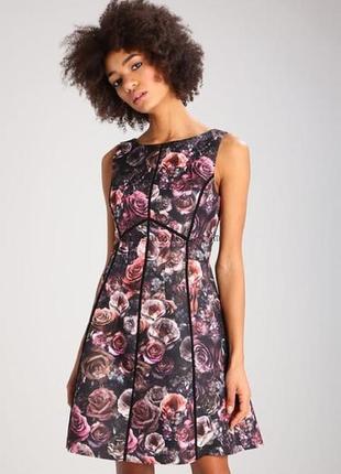 ❄распродажа!❄  фактурное платье в цветы от oasis размер 10uk
