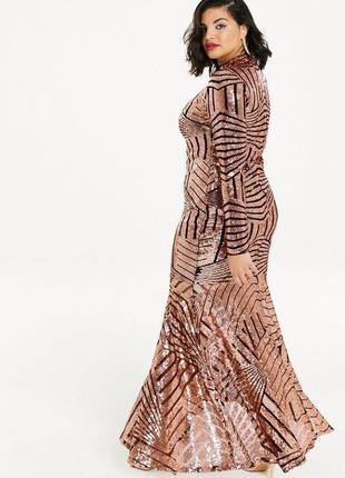 Wow sale до 12.01! невероятное платье в пол, декорировано пайе...
