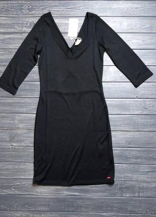 🎄зимняя ликвидация ❗ черное платье с красивым декольте и вырез...