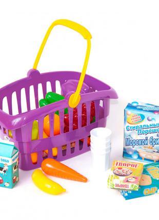 """Корзинка """"Супермаркет"""" 362B2 (Малиновый) Детский Игровой Набор..."""
