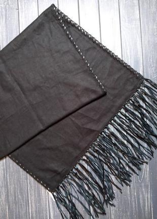 Скидка до 3️⃣1️⃣.0️⃣1️⃣!  черный шарф, палантин с отделкой из ...