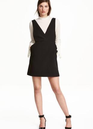 ❄распродажа!❄ черный сарафан, платье от h&m размер 42 европейский