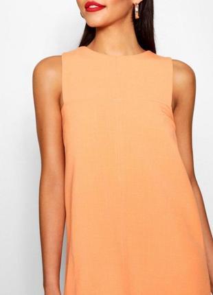 Скидка до 2️⃣9️⃣.0️⃣2️⃣! оранжевое платье а-силуэта от boohoo ...
