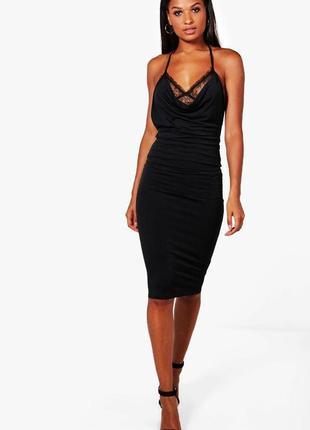 Скидка до 2️⃣9️⃣.0️⃣2️⃣!   стильное платье с кружевным топом о...