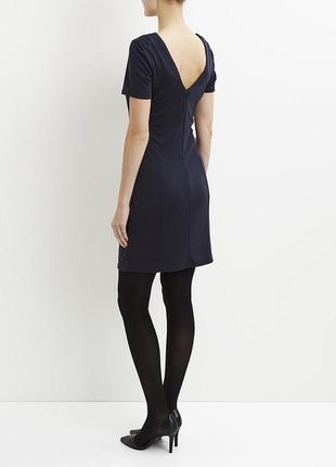 Новое черное платье с драпировкой и красивой спинкой от vila