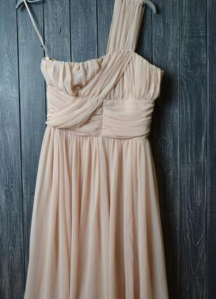 Скидка до 3️⃣1️⃣.0️⃣1️⃣!  нюдовое платье на одно плечо от asos...
