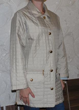 Gerry weber стеганная куртка,пальто золотисто-бежевого цвета