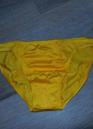 Яркие желтые узкие плавки новые
