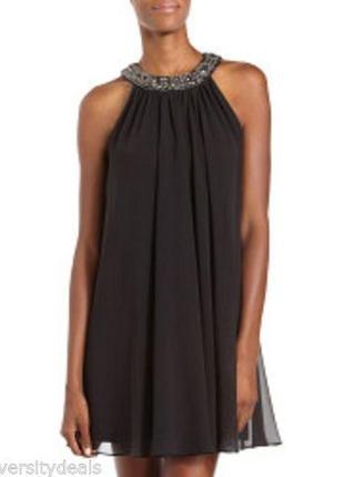 Широкое шифоновое нарядное платье шоколадного цвета