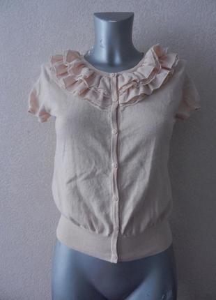 H&m нарядная кофта,кофточка,цвета чайной розы,хлопок и шифон