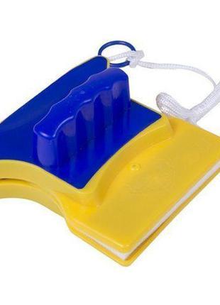 Магнитная щетка для мытья окон с двух сторон Glass Wiper Windo...