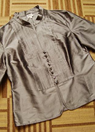 Armani Collezioni, Италия, 100% шелк, оригинал, жакет, блузка, пи
