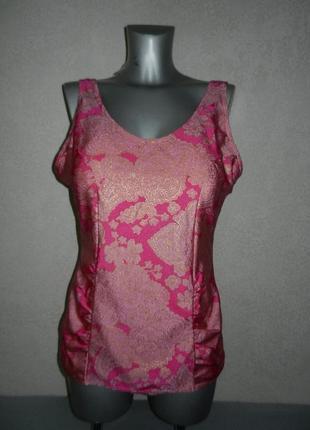 Роскошный розовый купальник платье с чашками,утяжка, новый